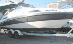 DEALER OWNED INVENTORY!! FREE SEA TRIAL WITH EVERY PURCHASE!!!! JUST REDUCED !! $9000.00 TRADES WELCOME, TAKING OFFERS, FREE WINTER STORAGE WITH PURCHASE!!!! 1991 Chaparral 2370 SL ** JUST IN ** Powered by a 260 V8 Merc and runs GREAT!!! Vinyl is in