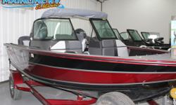 Edge 185 SP BLK/RED Alumacraft Edge 185 with a Yamaha f150xb 150hp Motor, aerated live well, bow cargo net, and alumatrac system.
