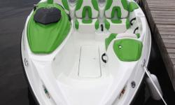 Green & white. Comes with trailer & mooring cover. Warranty extended to 2017. Winterized at dealer.