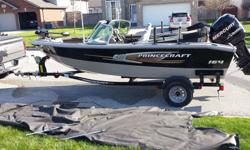2011 Princecraft 165 Sport with 90HP Mercury, low hours with lots of extras- everything in great shape. Very clean with lots of storage. This boat is ready to be used now !! Located in the Windsor, ON area - Bow Mounted trolling Motor with Wireless Foot