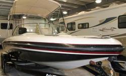 BLACK & WHITE, 200HP, 2 STROKE, OUTBOARD, STAINLESS STEEL PROP, BIMINI TOP...CALL FOR MORE INFORMATION 1-800-837-6556