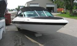New non-curent runabout, c/w full canvas pkg., sport seating w/rear bench, full gauge pkg., built-in fuel tank. We can install your engine or one of your choice.now only 2 left boat show special $7499