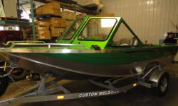 The Custom Weld Sport is a boat that is built for speed and agility. The minimalist design of the Custom Weld Sport provides you with an excellent amount of deck space for fishing, and allows your boat to go where other boats for sale just can't go.