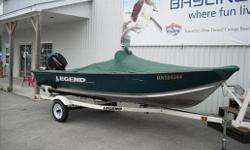 Great fishing boat! Boat has fish finder, rod holders, live well, swivel seats that can relocate to bow & stern for fishing, and trailer. **HST Extra** Specifications Length Overall (LOA): 192 Features