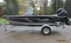 2010 LUND fishing boat Model; 1725 Explorer Sport Powered by; 115 Mercury 4 stroke Just serviced ! Only 127 hours of run time! On a Shorelander galvanized trailer with Serge Brakes and Spare - Seats for 4 ( 6 points to mount ) - Bow cover, as good as new