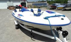 Used 1997 Sea-doo Sportster. Features the ultra-reliable Rotax 85hp 2-stroke engine, in-floor ski locker, plenty of storage, built-in cooler, navigation lights and more all on a single axle, V-bunk Karanvan boat trailer. Boat recently serviced with a new