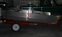 Ten Foot flat bottom boat with optional seats & trailer, used 6 times like new, motor not included $2500 OBO 604 786 6750