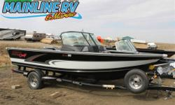 Edge 185 SPT black/white Alumacraft Edge 185 with Yamaha f150xb 150hp Motor, aerated live well, side rod storage, 6.5 gallon insulated cooler, and alumatrac system.