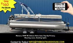 Mercury 50HP BF, Deluxe Helm Seat, Pop Up Privacy, Docking lights, Sign for the ultimate package. The SS210 is the complete pontoon package, featuring premium amenities and lasting durability at an extraordinary value. Every passenger rides in comfort,
