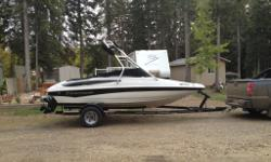 2010 Loaded Crownline ski boat equipped with tower. Boat has only 7 hours on it . Its like brand new . Boat includes all ropes life jackets , new wake board ( never used).the boat is black and white in color and in new condition. Save thousands from