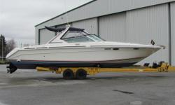 "1995 Searay 38-Sun Sport Over All Length 38'5"" Beam 11' Draft Drives Down 36"" Dry Weight 11,500 Lbs Fuel Capacity 300 Gallons Water Capacity 40 Gallons Holding Tank 20 Gallons Artic White Gell Coat Hull Color Scheme Blue Windless with Foot Switches"