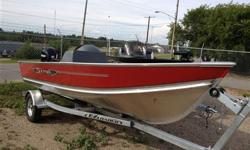 New 2012 Lund SSV16 with a galvanized trailer plus a new 2008 Mercury 40 hp 4-stroke, side console, battery included