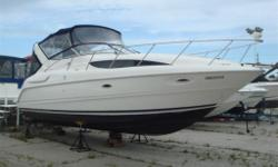 This boat is loaded! Optional 5.7 Mercruiser Bravo 2 drives. Air/heat, GENERATOR, windlass, remote spotlight, upgraded stereo, inverter, camper top, GPS and HUGE aftermarket extended swim platform. This has one of the biggest cabins you will ever see on a