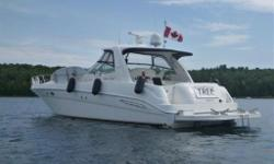 PRICE IS IN US FUNDS `TREC' is a Freshwater since new 460 Sundancer she is in a league of it's own, she has literally every option. Upgraded E120 Raymarine Radar/GPS Plotter, RayPilot 650 autopilot, ST60 Tri Data, Vetus bow thruster, 4 Flat Screen TV's,
