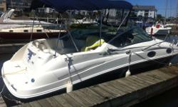 2007 Sea Ray 240 Sundancer 2007 Sea Ray Sundancer purchased new in September of 2008. The engine only has 110 hours on it!! It also comes with an Excalibur dual axle trailer with brakes, made new in 2009. The 240 Sundancer is a grand first step into Sea