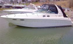Consignment Sale Free Sea Trial with Every Purchase 2001 Searay 310 Sundancer is fully loaded for all of your summer enjoyment complete with a brand new camper top and brand new carpets!!!!! Powered by twin 350 MAG's and complete with a Kohler Generator.