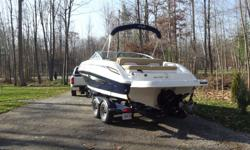 This Sea Ray was bought brand new in 2012 (it was not used in 2012 - bought in fall and stored. It only has 27 hours - it has Mercury DTS system so the hours can be checked) - It is absolutely perfect and comes with a custom matched 2013 Trailer with dual