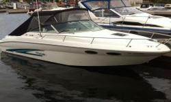 Sea Ray SunSport Twin 5.7L 305hp Mericruiser LX Cruising Speed 35mph Maximum Speed 50mph 600 Hours This Boat comes fully loaded Very Roomy Full New Canvas New Matching Carpet Sits 10-12 Adults comfortably Sleeps Two Comfortably V-berth Refrigirator