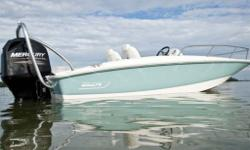 You'll find plenty of space and lots to love in the roomy Boston Whaler 170 Super Sport. Premium touches include stainless steel components, a fiberglass side console and comfortable seating throughout. Amenities and options for wakeboarding, fishing and