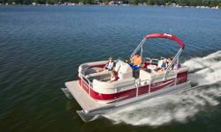 Specifications Length Overall (LOA): 240 Pontoon Diameter (in): 23' (0.58) Boat Dry Weight (lbs): 1618 (735) Boat Wet Weight (lbs): 2318 (1052) Passengers: 10 (9) Passengers Capacity (lbs): 1410 (640) Fuel Capacity (gal): 24 (91) Max Horsepower (hp): 90