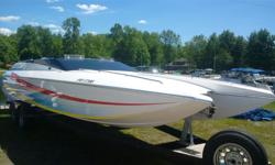 2002 25Talon in excellent condition. Never left in the water. Motor is custom built by West Carleton Automotive, 598 cu in with a pro charger pushing 900 HP capable of going to 1200 HP. Motor has about 45 hours and the rebuilt bravo xr has 3 hours. Hull