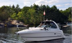 "Chaparral promoted this boat from 270 to 280 and then 290 (2013, 2014)! because she is actually 29' 3"" LOA with a 9' 6"" beam. She is a power cruiser with Twin 4.3L Volvo Penta 225HP engines and one of the best layouts in the industry, with the ability to"