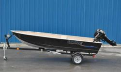 BOAT ONLY Standard package includes your choice of Mercury� outboard (up to the boat�s maximum rated horsepower) and an optional custom-fit Lowe trailer selection. Important features include Polar White painted exterior with a tan painted interior,