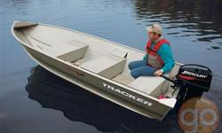 The TRACKER�® Guide V-14 aluminum fishing boat provides anglers with a lightweight, yet extremely durable, utility boat. It is constructed with a one-piece welded aluminum hull. This means that you can take it out for years of work or fishing without fear