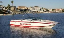 2012 SUPREME V226 SKY   When the market asked for better interior layouts with a more luxurious feel, the Supreme V226 was up to the challenge! Our goal was reached as this boat has more interior room than all 24 footers on the market today. With the
