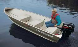 The TRACKER® Guide V-14 provides boaters with a lightweight, yet extremely durable, utility boat. It is constructed using a one-piece welded aluminum hull. This means that you can take it out for years of work or fishing without fear of a few bumps and