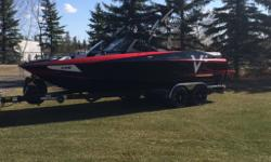 This boat has 99 hours and has been serviced and winterized at the dealer since purchase. Boat was purchased with extended warranty till May 2018 and can be transferred to second owner. Boat options include the plug and play ballast system, heater, cruise