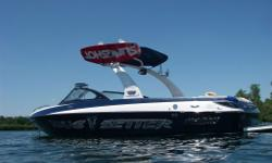 2008 Malibu Wakesetter VLX,2008 Malibu Wakesetter VLX, 21.5 ft. . Dark Blue and white gelcoat. Illusion X tower with white powder coat, pivots down for garage storage. Right, left, center and front ballast tanks with electronic control. Dual battery.