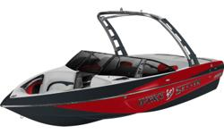 Indmar Monsoon 350HP 5.7 CAT 350HP, Mufflers - Silent Rider, Shaft Seal - Water Cooled, Ballast HI FLO - Midship Malibu Launch System, Ballast HI FLO - Rear Malibu Launch System, Cup Holders - Stainless (QTY Based on Model), Glove Box - Locking, Rubrail -