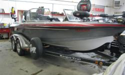 with 9.9 Suzuki 4-stroke kicker, tandem axle trailer, spare tire, 80lb rear vantage, new 80lb Terrova ipilot, LCX 104C Lowrance, LCX 25c Lowrance, removable rear casting platform, on board charger, 4 seats, travel cover w/engine cover, plus many standard