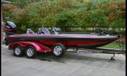 NEW PRICE!!!...MINT CONDITION!!! Rare Colour combination, Brand new POWER POLE with foot controls, HDS 8 Fish Finder, Minn Kota 101 trolling motor, 4 Optima batteries, 3 Bank Charger, Loc R Bar, HD RAM Mount(3), Custom Cover, Custom color matched trailer,