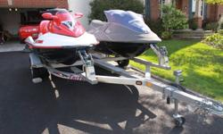 I have a 2006 SeaDoo Wake Edition 1500 cc 3 seater, 4 stroke & low hours, for sale, dealer serviced. Comes with a wake board racks, safety kit. Great shape. $7500 , Selling the double Triton Elite all Aluminum Trailer separately for $1,800. They won't