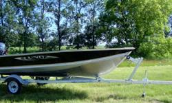 20 Transom, In New Condition, EZ Loader Galvanized Trailer