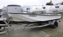 This is actually a Surf Whaler - built in the style of a Boston Whaler but not by Boston Whaler. Comes complete with 1992 Road Runner 1650RL trailer. This boat had the hull completely re-fibreglassed. The hull has not been in water! Pedestal seats have