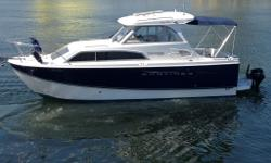 "## DEAL PENDING ## - New in Water 2009 - Great ""Reviews"" - awesome design. With open deck for fishing, microwave, fridge, 2 hot/cold showers, GPS, Chart Plotter, FishFinder, VHF w/AIS, you can do it all. Also included: CD, DVD, TV, Scotty mounts, and,"