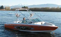 2005 Mastercraft X10. MCX 350 HP. Orange and white. Grate Shape. tripple ballast. SS prop. Matching tandon trailer. contact 250 542 0995.
