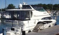 At over 46' in length and 15' of beam this luxurious boat is big, roomy and comfortable. It features a beam-to-beam salon, a master stateroom which offers a private suite that is perfect for extended stays at anchor or dockside. There is an equally