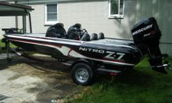 Nitro Z7 Bass Boat Optimax 150 Pro XS Motor Dual Console Hydraulic Steering Excellent Condition - Very Clean Low Hours Custom Cover