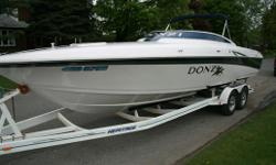 Donzi ZX28 - $49,900.00 or Best Offer This boat is equiped with : Twin 2006 383 MerCruiser MPI with Brovo Drives, drive showers and stainless steel MIRAGE Plus props Full camper top and cockpit cover Killer sound system and flat screen TV, VHF, Marine